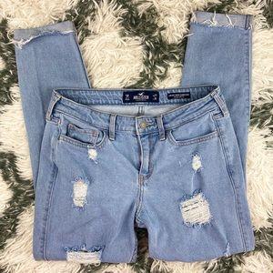 Holllister low rise Super Skinny Crop Jeans Size 5